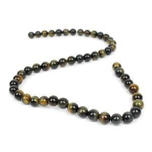 150cts Blue & Yellow Tiger Eye Plain Rounds Approx 8mm, 38cm