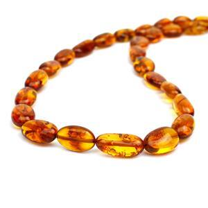 Baltic Cognac Amber Beads, Approx. 10x7mm-16x8mm (38cm Strand)