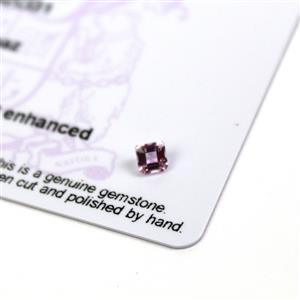 0.35cts Imperial Pink Topaz 4x4mm Octagon  (N)