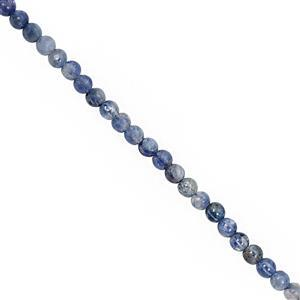 25cts Kyanite Smooth Round Approx 4mm, 20cm Strand