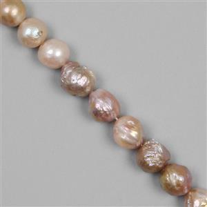 Multi-Colour Freshwater Cultured Pearl Gemstone Strand
