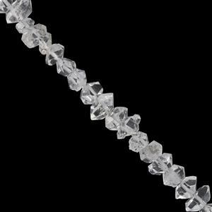 18cts Diamond Quartz Nugget Approx 3x3.5mm to 4x6mm 19cm Strand