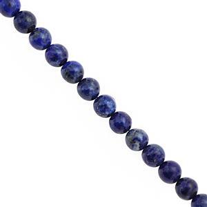 96cts Lapis Lazuli Smooth Round Approx 7.50 to 8.50mm, 18cm Strand