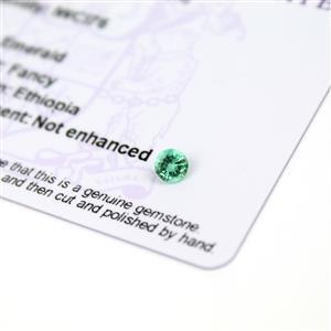 0.25cts Ethiopian Emerald 4.5x4.5mm Round  (N)