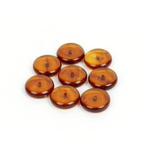 Baltic Cognac Amber Disc Beads (8pk)