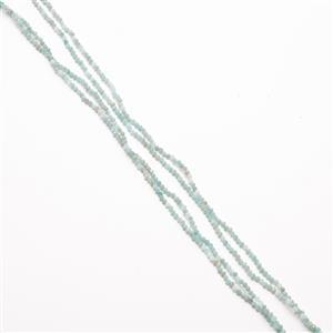 "45cts Russian Amazonite Faceted Rounds Approx 3mm, 36"" Strand"