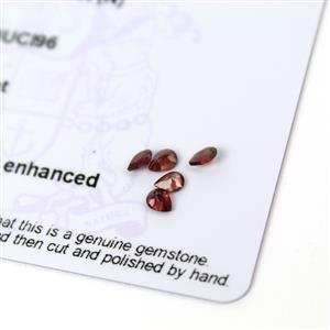 0.85cts Rajasthan Garnet 4x3mm Pear Pack of 5 (N)