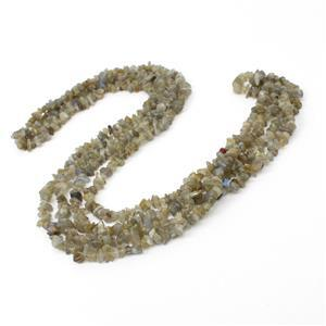 "240cts Labradorite Small Chips Approx 5x4mm, 60"" Strand"