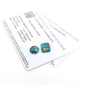 Double Trouble Egyptian Turquoise Round and Octagon Loose Stones!