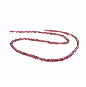25cts Garnet Faceted Rondelles Approx 3x2mm 38cm strand