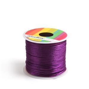 10m Violet Satin Cord, 1mm