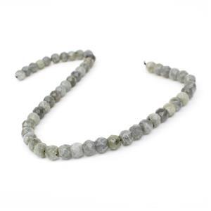 290cts Labradorite Faceted Rondelles Approx 10x7mm, 38cm Strand