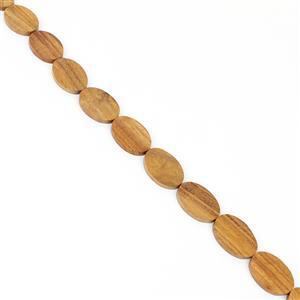Bayong Wood Oval Beads Approx 25x35x5-6mm