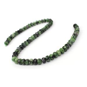 200cts Ruby Zoisite Faceted Rondelles Approx 8x5mm, 38cm