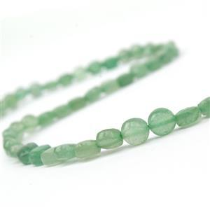 60cts Green Aventurine Faceted Coins Approx 6mm, 38cm