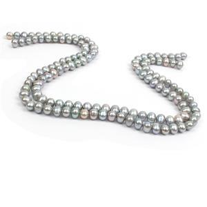 Silver Freshwater Cultured Potato Pearls Approx 6-7mm, 38cm Strand (2 Strands)
