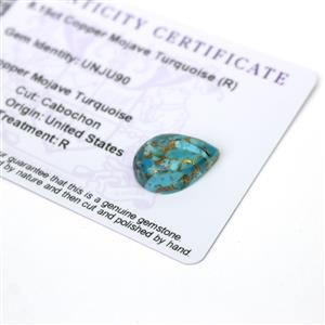 8.15cts Copper Mojave Turquoise 18x13mm Pear  (R)