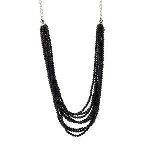 172.15ct Black Spinel Sterling Silver Necklace