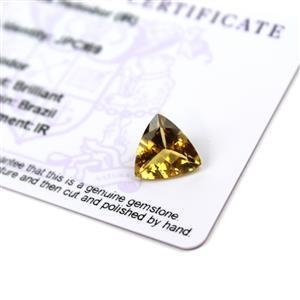 3cts Xia Heliodor 11x11mm Triangle  (I)