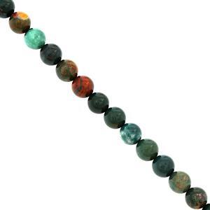182cts Chalcedony Bloodstone Plain Round Approx 8mm, 38cm Strand
