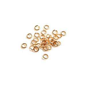 925 Gold Plated Sterling Silver Open Jump Rings ID Approx 4mm.  (Approx 30pcs)