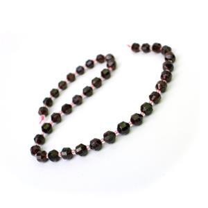 180cts Garnet Faceted Satellite Beads Approx 7-8mm, 38cm Strand