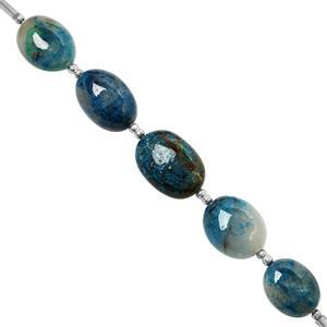 45cts Shattuckite Graduated Plain Tumble Approx 8x7 to 14x10mm, 10cm Strand with Spacers