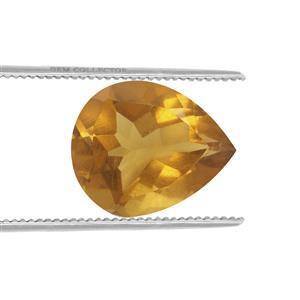 1.1cts Burmese Amber 12x10mm Pear  (N)