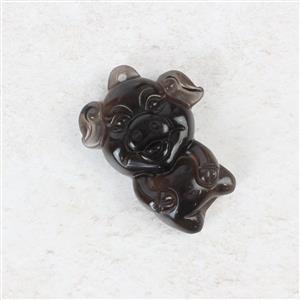 Glass Cutie Piggy Pendant Approx 31x 23mm