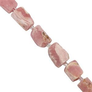 106cts Rhodochrosite  Tubes Approx 6.8x5.6mm to 12.5x8.9mm 19cm Strand with spacer