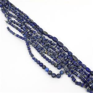 Starry Night! 3 Lapis Lazuli Strands including Rounds, Smooth and Bead Nuggets
