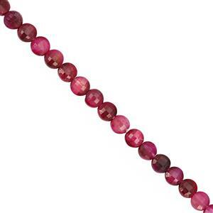 30cts Pink Tigers Eye Faceted Coin Approx 4.50mm, 30cm Strand