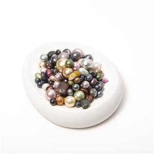 Mixed Shape & Colour Freshwater & Shell Pearl Scoop Approx 200g