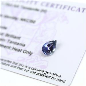 1.7cts  Tanzanite 10x7mm Pear  (H)