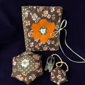 Allison Maryon's Orange & Brown Travel Sewing Kit
