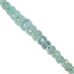 10cts Russian Emerald Graduated Faceted Rondelle Approx 2x1 to 5x1.5mm, 9cm Strand