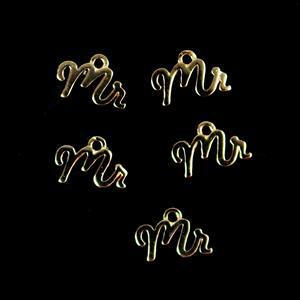 Rose Gold Plated 925 Sterling Silver Mr Charms Approx 7x10mm 5pcs