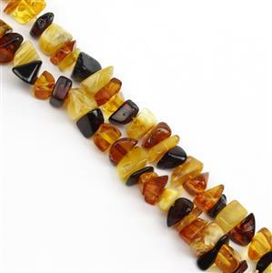 Baltic Multi Colour Amber Chips, Approx. 8-10mm (38cm Strand)