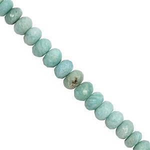 118cts Amazonite Faceted Rondelle Approx 7x4 to 11x7mm, 20cm Strand