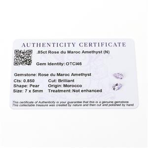 Amethyst Gemstone Pieces  1.24cts