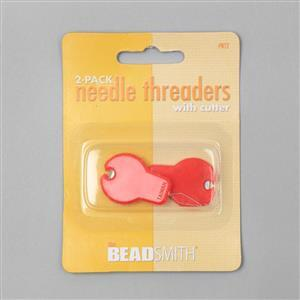 Beadsmith Needle Threader with Cutter (2pcs)