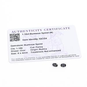 1.1cts Burmese Spinel 6x4mm Oval Pack of 2 (N)