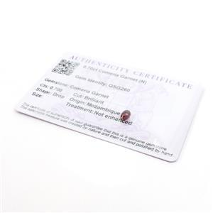 0.70ct Comeria Garnet Brilliant Drop (N)