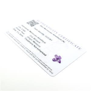 Moroccan Amethyst Gemstone Pieces  1.03cts