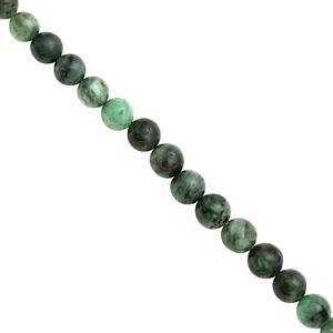 130cts Emerald Graduated Plain Round Approx 5 to 8mm, 39cm Strand