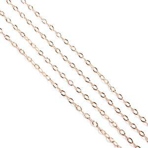 Rose Gold Plated 925 Sterling Silver 2mm Diamond Cut Oval Chain Approx 45cm/18'' (2pcs)