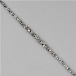 Silver Diamond Gemstone Strands