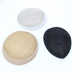 Sophistication! Inc; Black, Oatmeal & Silver Cambric Fascinator Bases