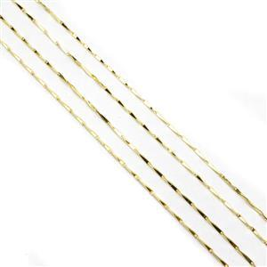 Gold Plated 925 Sterling Silver 1.0mm Graduated Link Chain Approx 45cm/18'' (2pcs)