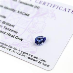 1.1cts  Tanzanite 8x6mm Pear  (H)